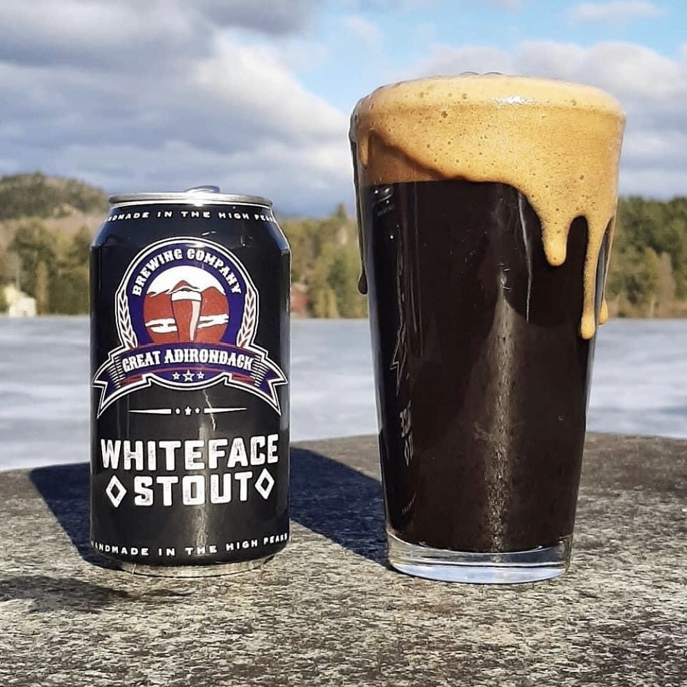 Whiteface Stout Can Great Adirondack Brewing Company