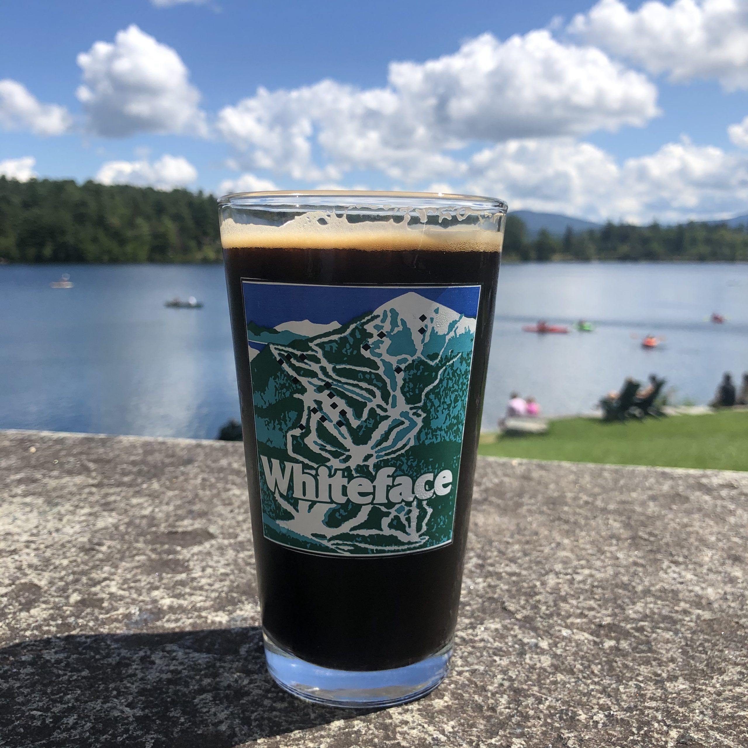 whiteface pint glass